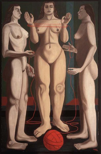 Las Tres Parcas, 1936 - Manuel Rodríguez Lozano