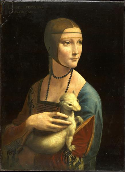 The Lady with an Ermine (Cecilia Gallerani), 1489 - 1490 - Leonardo da Vinci