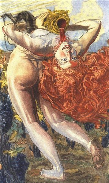 L'ame du vin, 1900 - Carlos Schwabe