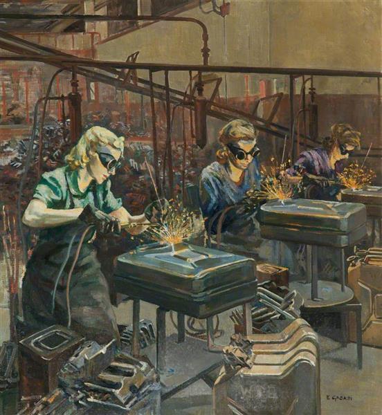 Women Welders at Williams & Williams, Chester - Ethel Léontine Gabain