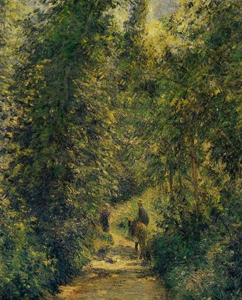 Path under the Trees, Summer, 1877 - Camille Pissarro