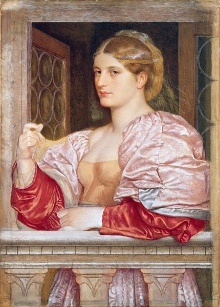 A Venetian Courtesan - Frederick William Burton
