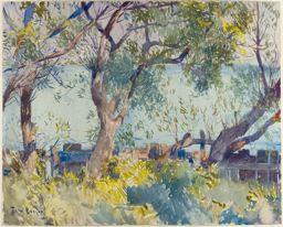 Through the Willows, 1922 - Frank W. Benson