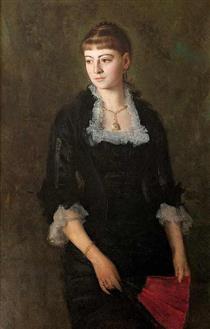 Portret Dziewczyny Z Wachlarzem - Henryk Rodakowski
