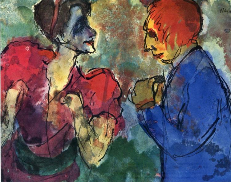Беседа, 1910 - Еміль Нольде