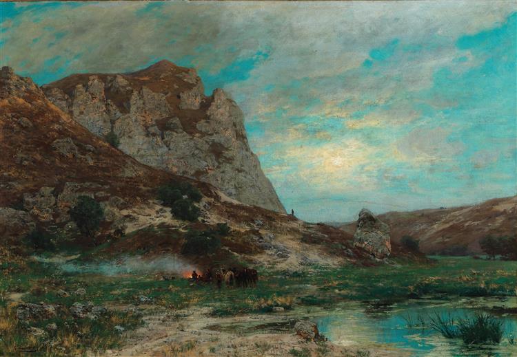 Soldaten Bei Der Rast, 1877 - Karl Lessing