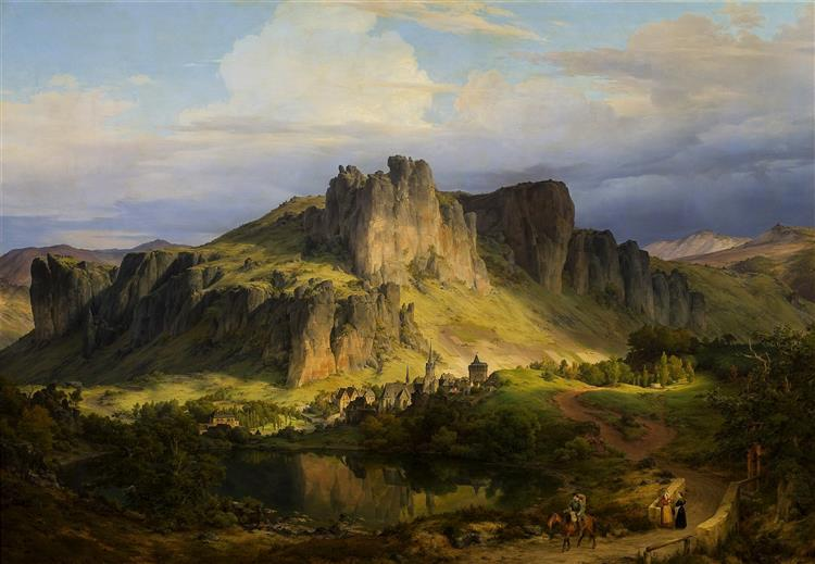 Landscape in the Eifel Mountains., 1834 - Karl Lessing