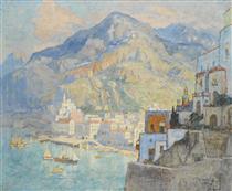 View Of Amalfi - Konstantin Ivanovich Gorbatov