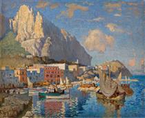 view of Capri - Konstantin Ivanovich Gorbatov