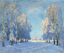 Winter Day - Konstantin Ivanovich Gorbatov