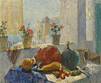 Still Life by the Window, Capri - Konstantin Ivanovich Gorbatov