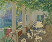A Sunlit Terrace, Capri - Konstantin Ivanovich Gorbatov