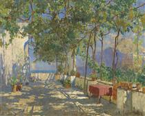 Patio in Capri - Konstantin Ivanovich Gorbatov