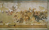 Alexander Mosaic (depicting the Battle of Issus Or the Battle of Gaugamela) - Apelles