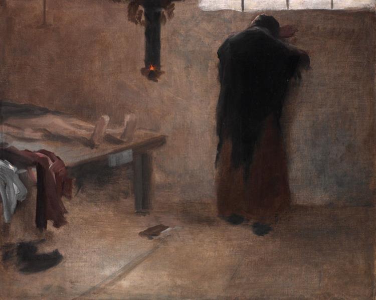 In the Morgue, 1885 - Якуб Шиканедер