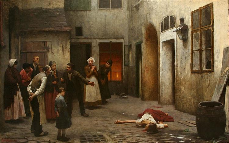 Murder in the House, 1890 - Jakub Schikaneder