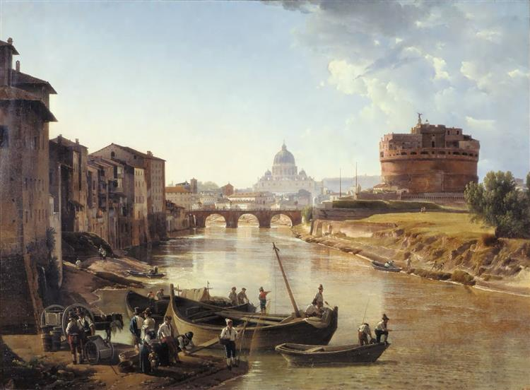 New Rome. Castle of the Holy Angel, 1823 - 1825 - Silvestr Shchedrin