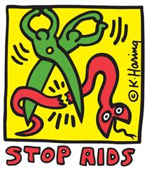 Stop AIDS - Keith Haring