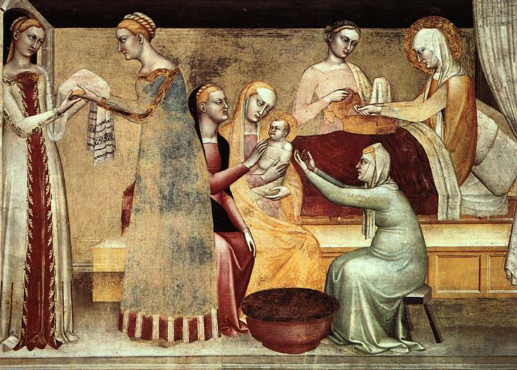 Naissance De La Vierge, c.1370 - Giovanni da Milano