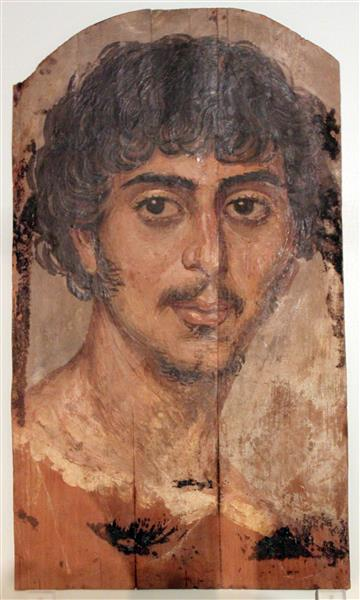 Mummy Portrait of a Man Anagoria - Fayum portrait