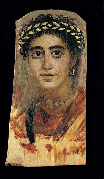 Portrait of a Young Woman in Red - Fayum portrait