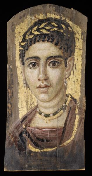 Portrait of a Young Woman with a Gilded Wreath - Fayum portrait