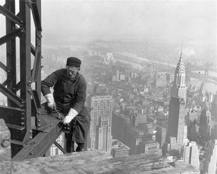 Old Timer Structural Worker, 1930 - Lewis Hine