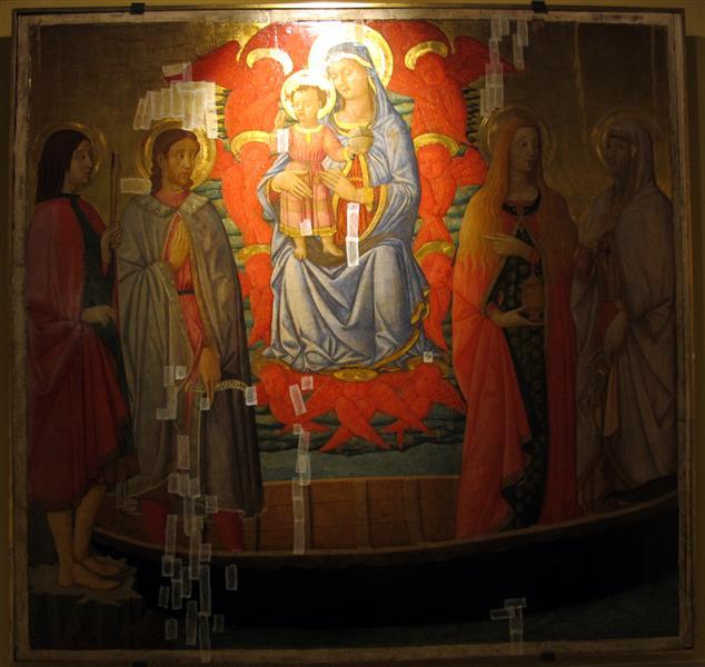 Madonna Col Bambino Tra I Santi Sebastiano, Lazzaro, Maddalena E Marta, c.1450 - Scheggia