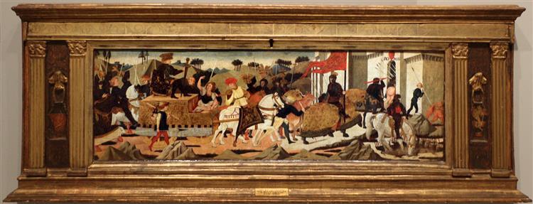 Ritorno trionfale di Scipione l'africano a Roma, c.1450 - Lo Scheggia