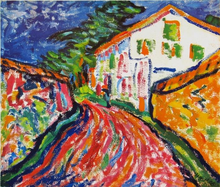 House in Dangast (The White House), 1908 - Erich Heckel