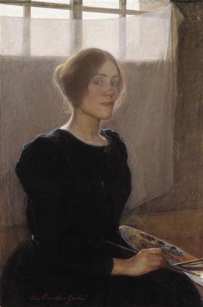 Self Portrait, 1897 - Elin Danielson-Gambogi