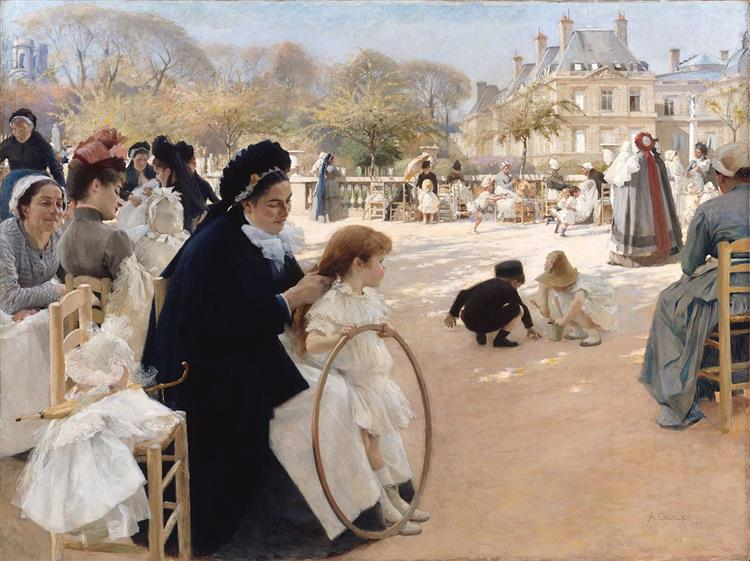 The Luxembourg Gardens, Paris - Albert Edelfelt