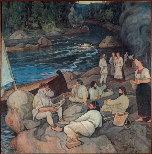 Väinämöisen soitto, 1897 - Halonen, Pekka