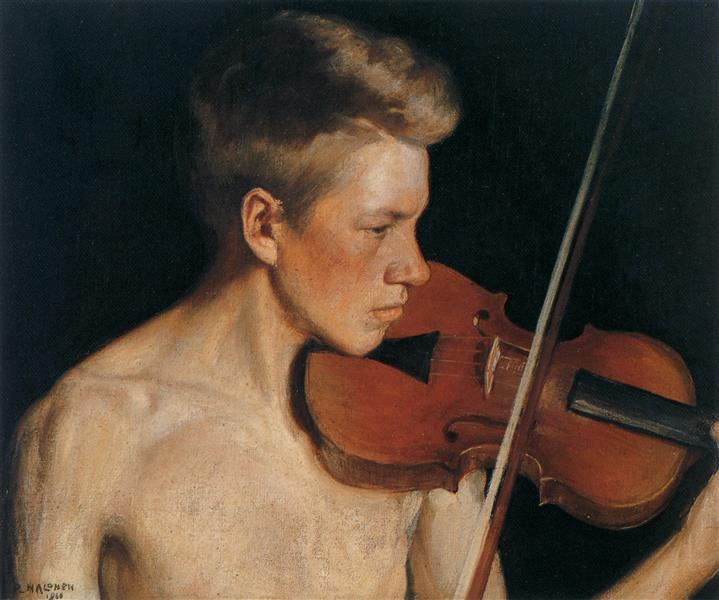 The Violinist, 1900 - Halonen, Pekka