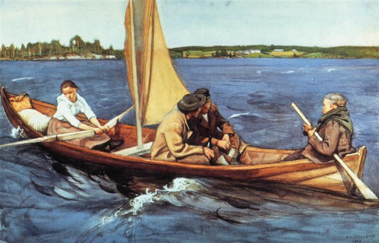 Kotimatkalla, 1903 - Eero Järnefelt