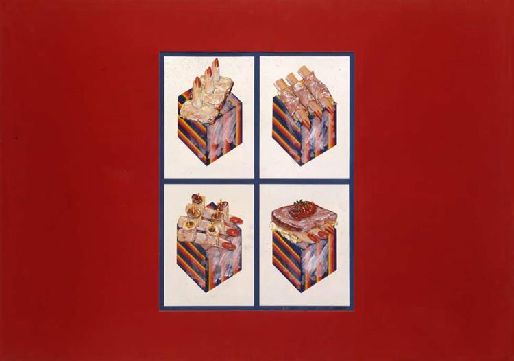 Fingerimbiss, 1965 - Christian Attersee