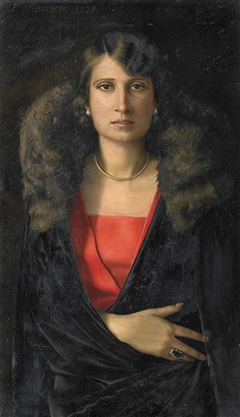 Portrait of Frau K. (Frau Krupsig), 1929 - Werner Peiner