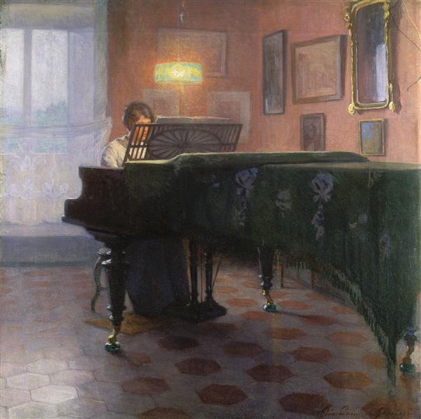 Pianospelare, 1907 - Elin Danielson-Gambogi
