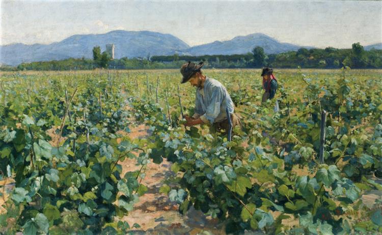 Viinitarhassa II, 1898 - Elin Danielson-Gambogi