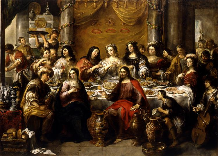 The Wedding at Cana, Jesus Blesses the Water, 1641 - 1660 - Jan Cossiers