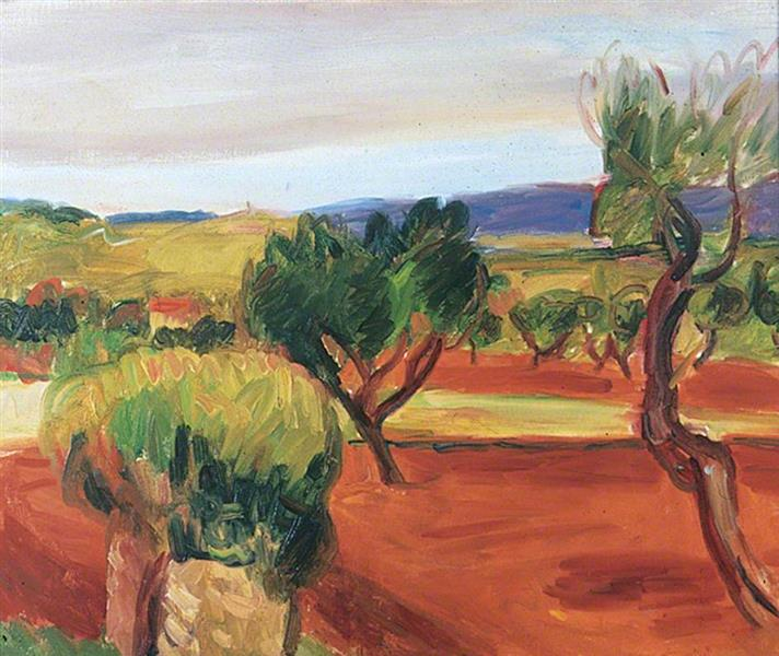 Landscape at Aix, France, 1916 - Matthew Smith
