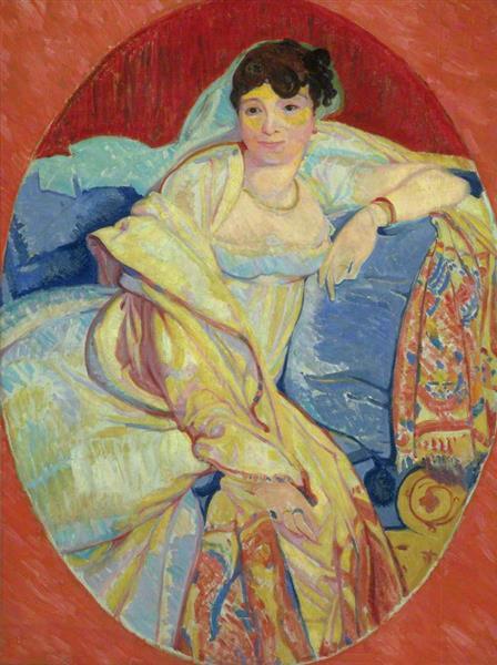 Madame Rivière (after Jean Auguste Dominique Ingres), 1913 - Matthew Smith