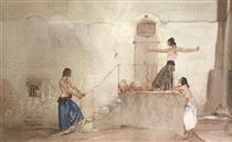 Argument in Almeria - William Russell Flint