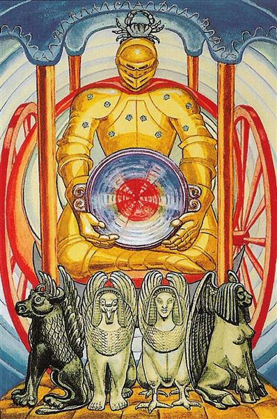Atu VII - The Chariot - Thoth Tarot - Aleister Crowley - Lady Frieda Harris