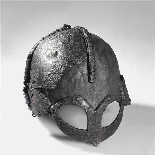 Gjermundbu Helmet, c.970 - Viking art