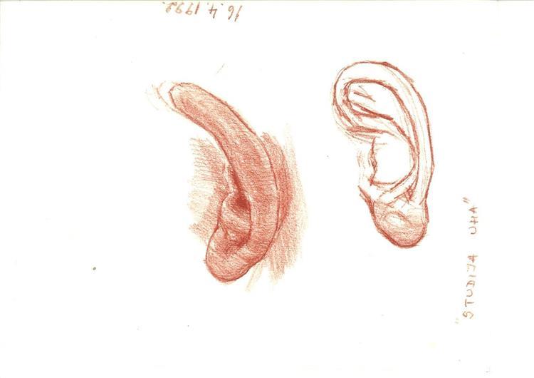 Study: ear (16.4.1992.), 1992 - Alfred Freddy Krupa