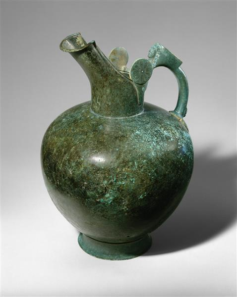 Bronze Oinochoe, c.550 BC - Ancient Greek Pottery