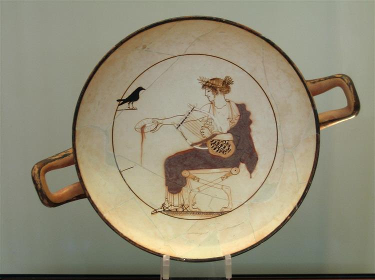 Cylix of Apollo, c.470 BC - Ancient Greek Pottery