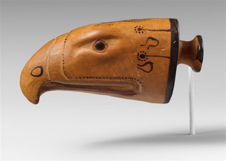 Terracotta Aryballos in the Form of An Eagle's Head, c.600 BC - Ancient Greek Pottery