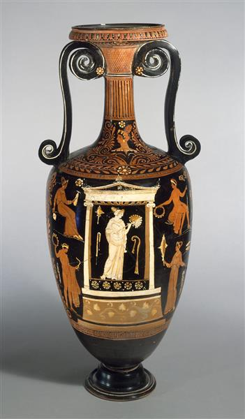Terracotta Loutrophoros (ceremonial Vase for Water), c.350 BC - Ancient Greek Pottery